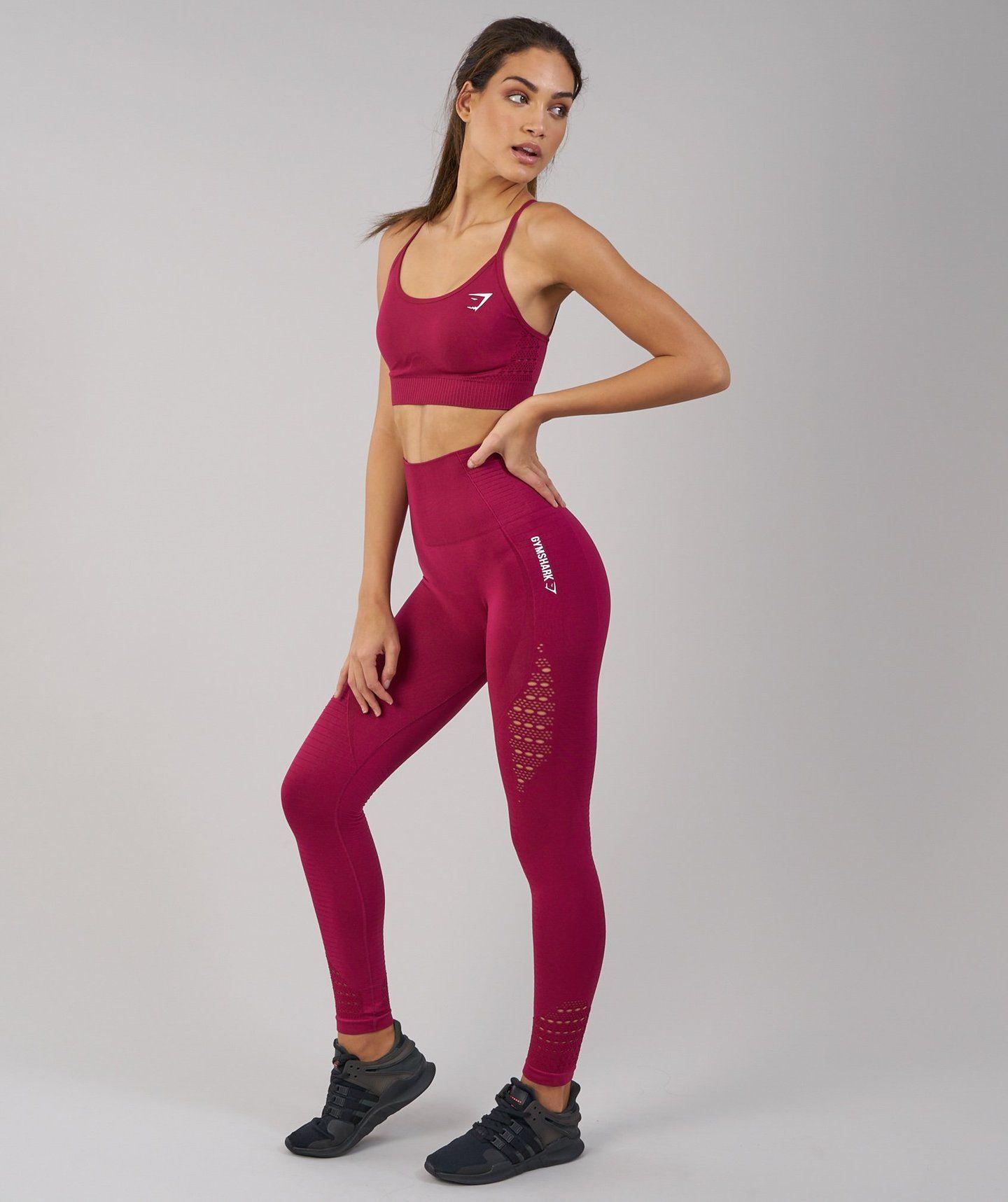 07de42c850997 Gymshark Energy Seamless High Waisted Leggings - Beet | Exercise ...