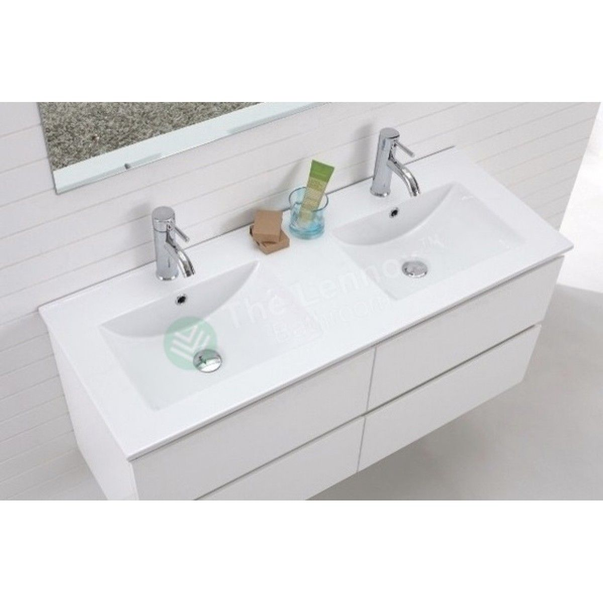 Vanity Asron Series 1200mm White Double White Bathroom Vanity Modern Bathroom Furniture Design Modern Bathroom Vanity