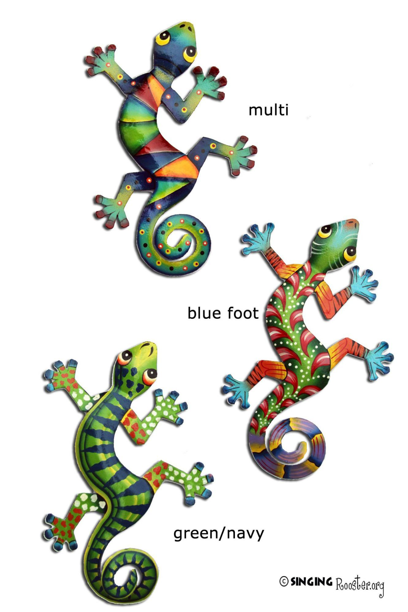 Haitian metal wall art gecko lizard geckos iguanas lizards