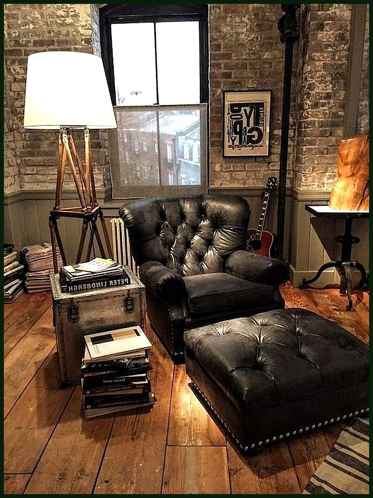 24 Classy Masculine Living Room Design Ideas With Rustic Style 24