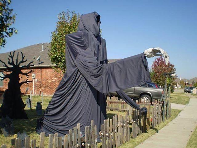 Large Grim Reaper Lawn Decoration Halloween Outside Lawn Decor Halloween Outdoor Decorations