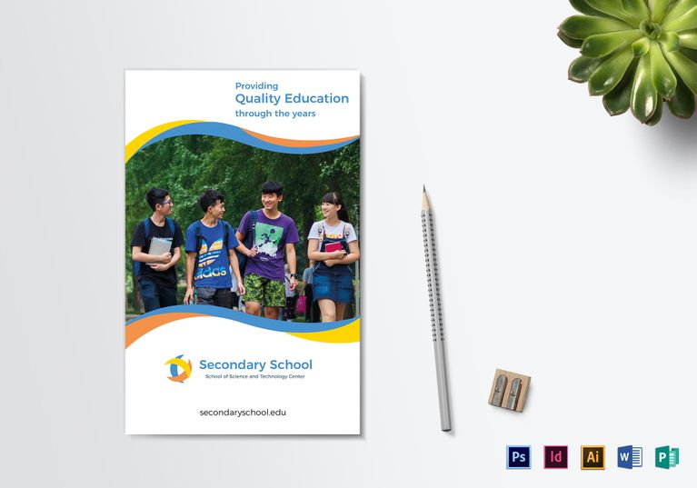 School Education Bi Fold Brochure Template Brochures Brochure