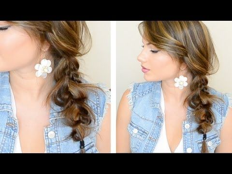 How To Do The Messy Side Braid Hairstyle Step By Step Diy