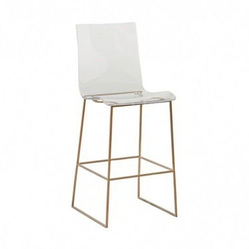 our king clear acrylic bar stool is the perfect addition to modernize your kitchen or bar