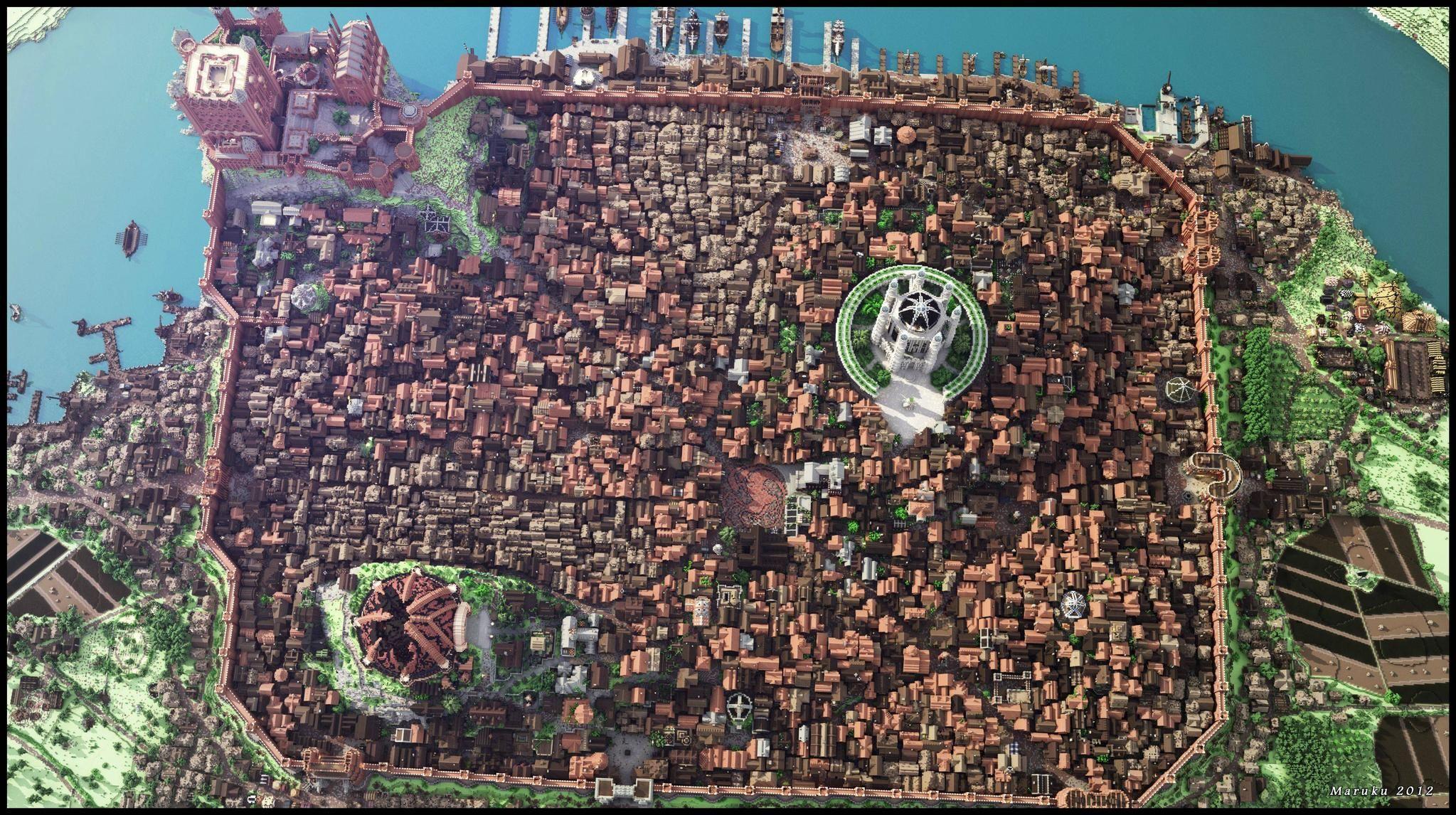Amazing Minecraft City 3 Juego De Tronos Arquitectura Minecraft Creaciones Minecraft