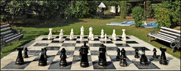 This Life Size Chess Board Is An Amenity Included With Club Membership At Best Western Resort Country Gurgaon In New Delhi India