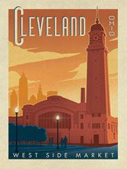 Cleveland Ohio This Stylish Print Of Cleveland S West Side