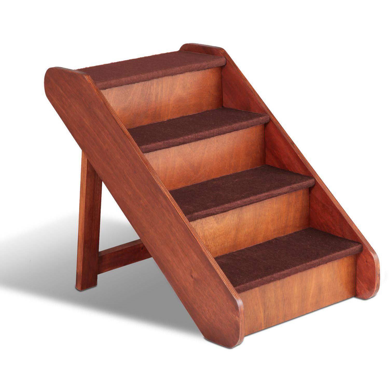 """Solvit PupSTEP Large Wood Pet Stairs 24"""" L X 16"""" W X 20"""