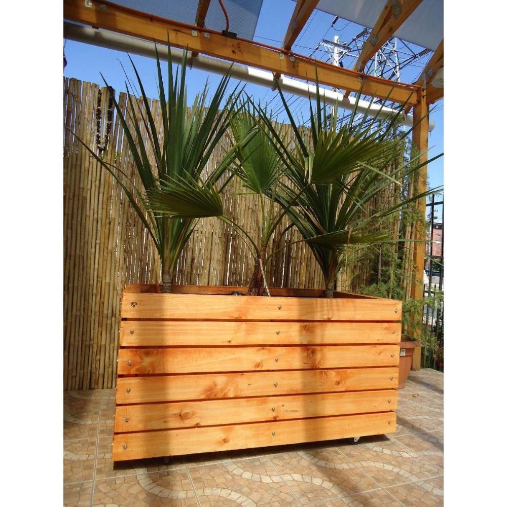 Maceteros remate jardineras en madera con ruedas para - Jardinera de madera ...