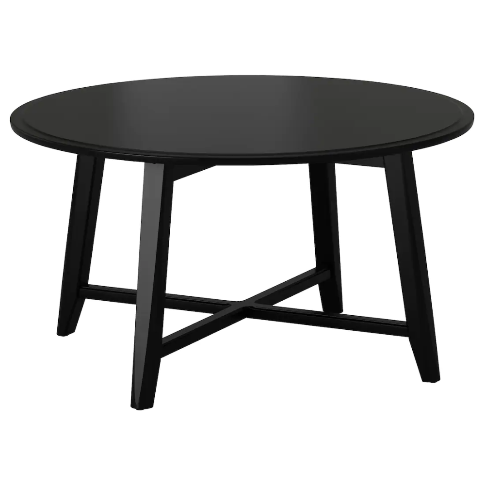 "KRAGSTA Coffee table, black, 35 3/8"" IKEA in 2020"