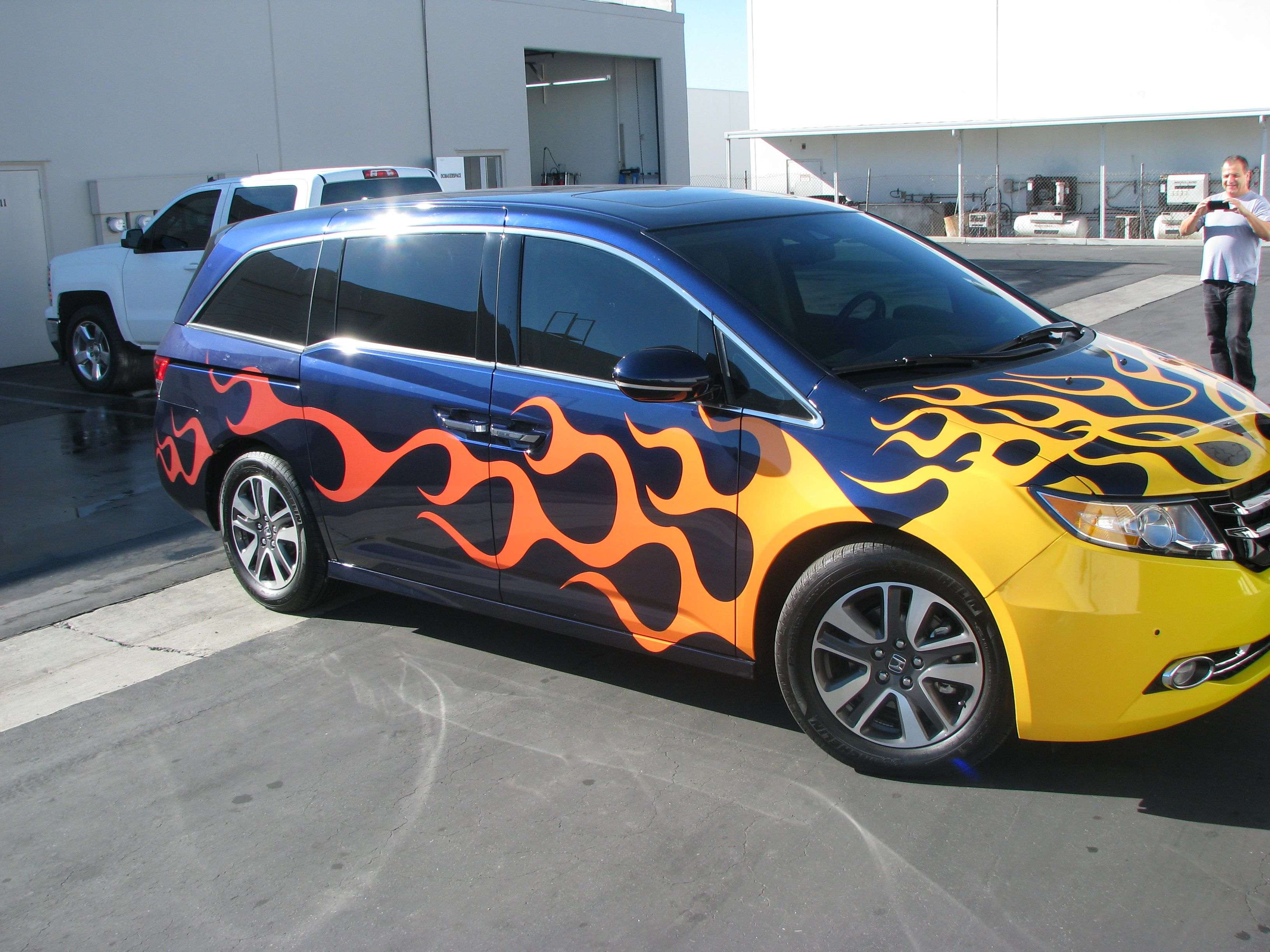 Add Some Flames To Your Minivan Make You The Coolest Dad In Town