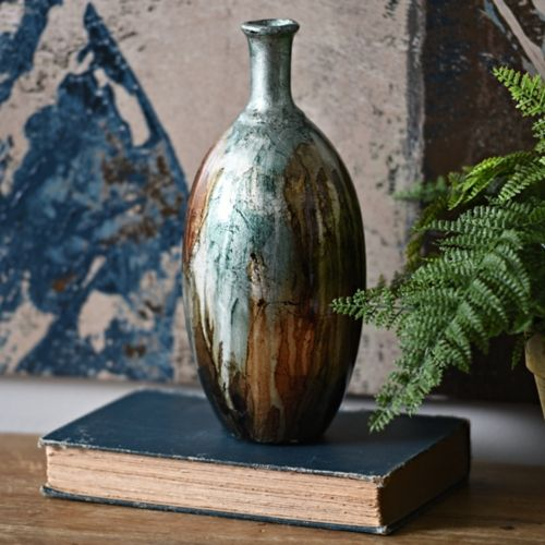 Product Details Blue Color Infusion Foil Vase Vases Vase