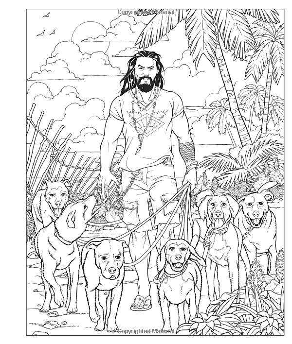Amazon Com Crush And Color Jason Momoa A Coloring Book Of Fantasies With An Epic Dreamboat 9781250256683 Mauri Coloring Books Cool Coloring Pages Fantasy