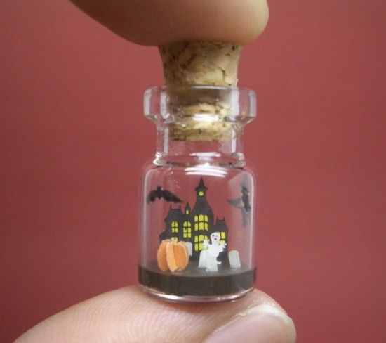 Halloween Is In A Tiny Bottle Altered Items Arts And Crafts