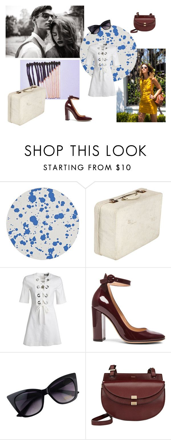 """""""West L.A Fadeaway"""" by clararucula ❤ liked on Polyvore featuring Tisch New York, Gianvito Rossi and Chloé"""