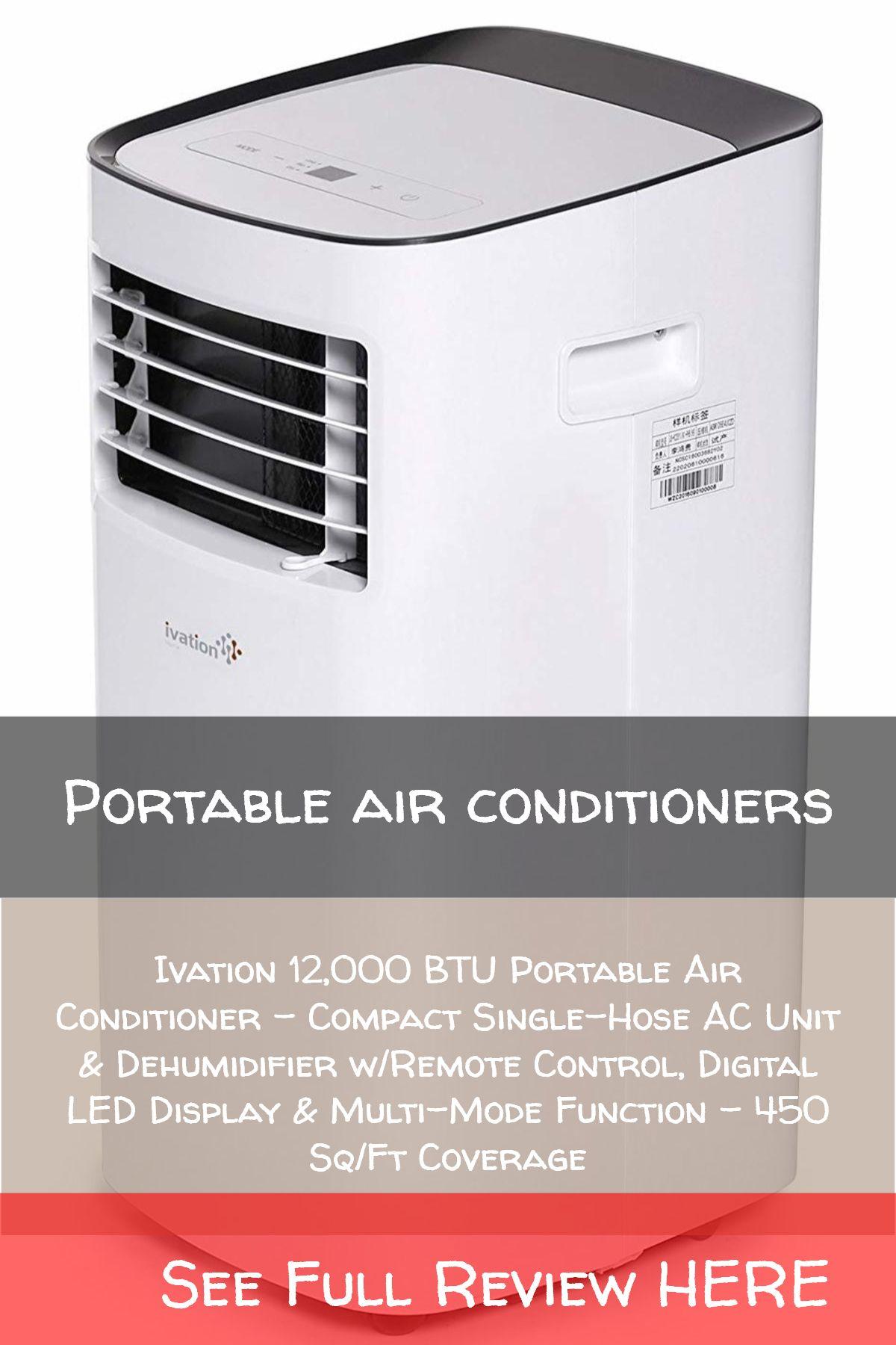 Portable Air Conditioners Ivation 12 000 Btu Portable Air Conditioner Compact Single Hose Ac Unit Dehumidi Ac Units The Unit Dehumidifiers