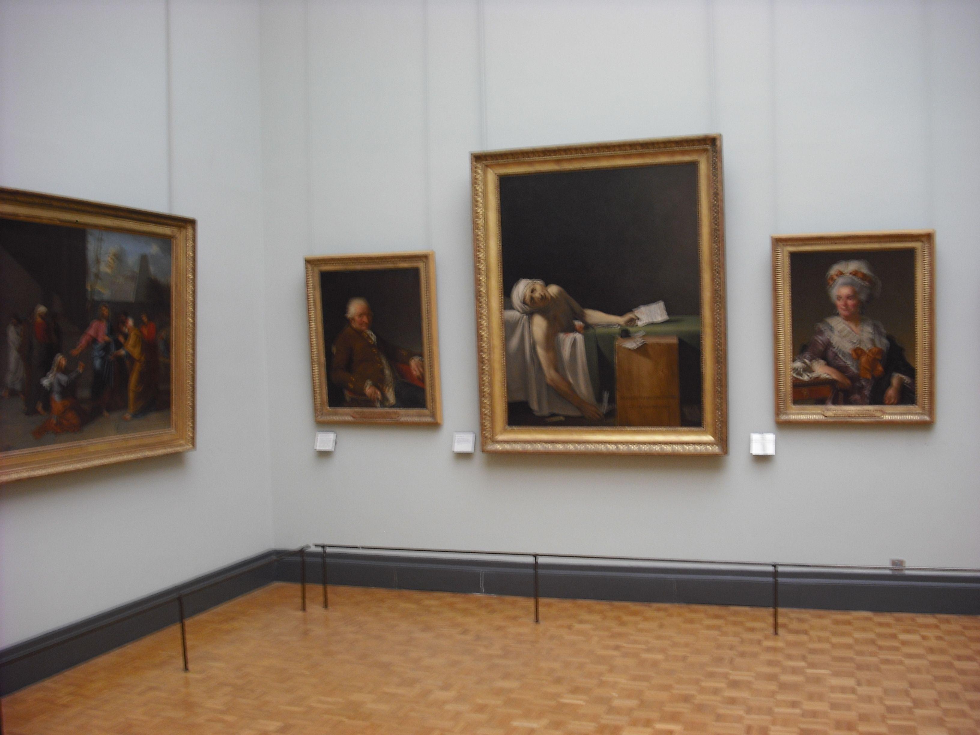 Death Of Marat Jacques Louis David In Louvre Paris