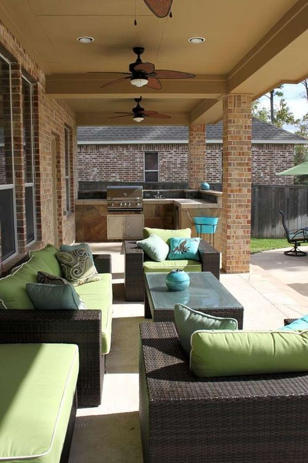 cozy and cool outdoor living spaces inspiration 49 outdoor living space outdoor rooms diy on outdoor kitchen and living space id=22433