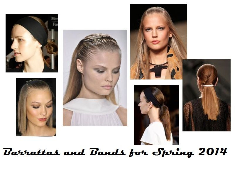 #Barrettes and #HeadBands are the hottest #Spring2014 #HairTrends Cut rings out of your winter tights to make a trendy wide head band! Read the full article here for the hottest #SpringBeautyTrends and how to wear them now! http://www.theperfumeexpert.com/the-top-10-beauty-trends-for-spring-2014-and-how-to-wear-them-now/ #Hairstyles #BlackHeadBands #hairaccessories