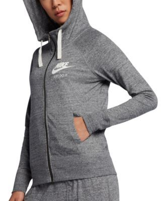 Nike Women's Gym Vintage Full-Zip Hoodie & Reviews - Tops - Women - Macy's 1