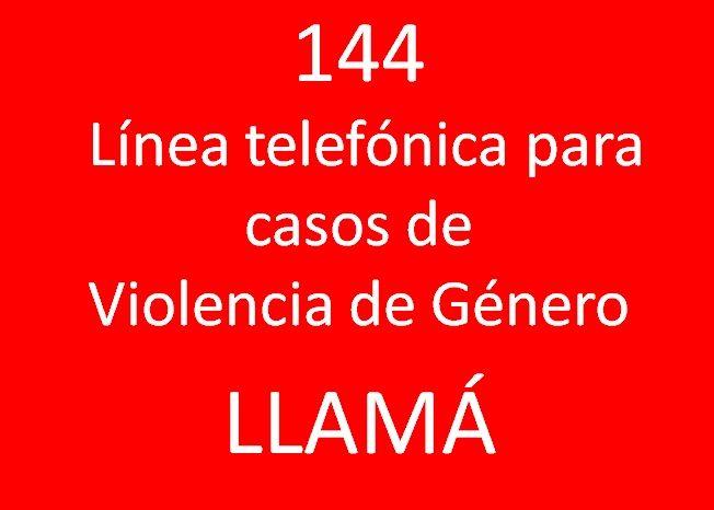 Linea 144 para casos de Violencia de Género
