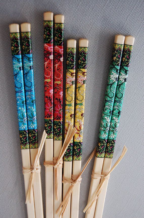 Black Lacquered Traditional Japanese Geishas Set of 5 Chopsticks Set Asian Decor