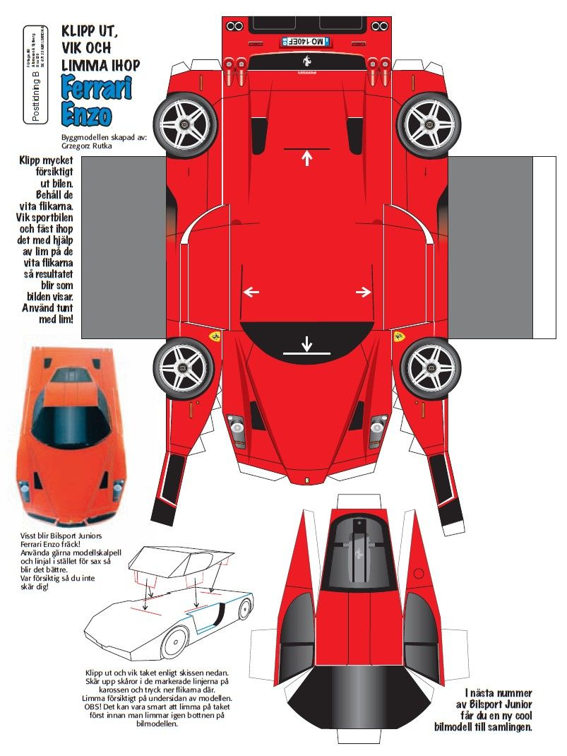 Paper Cars Templates Grude Interpretomics Co