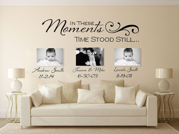 in these moments wall decal, wall decal, custom wall decals, time