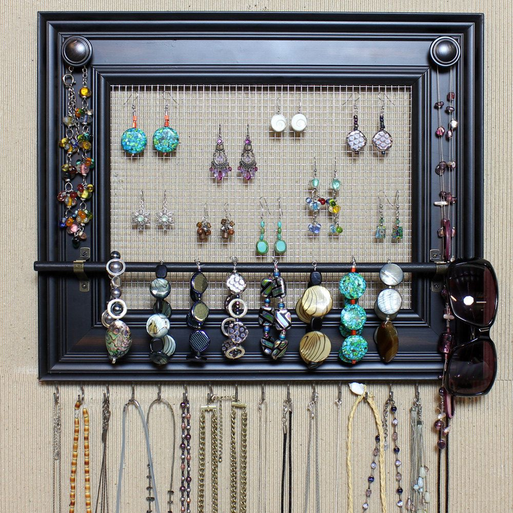 """jewelry organizer display rack holder picture frame- 17""""x14""""- large"""