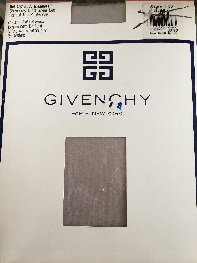 VTG Givenchy Body Gleamers Control Top Pantyhose Silver Fox Size B Prom Spring  | eBay