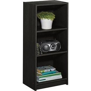 Maine Half Width Small Extra Deep Bookcase Black Ash At Argos Co