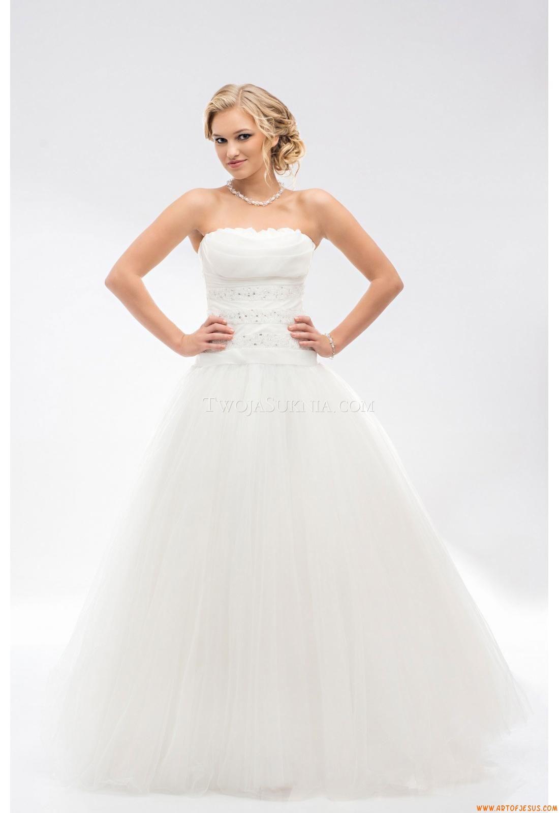 A-linie Trendige Schlichte Brautkleider aus Tüll mit Applikation ...