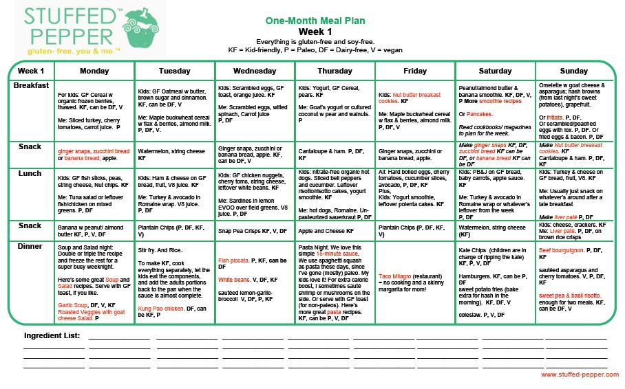 My one month meal plan gluten free dairy soy kid friendly paleo vegan options stuffed pepper also rh pinterest