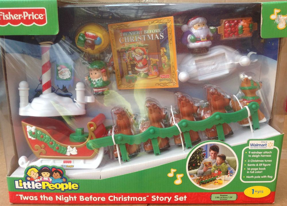 NEW LITTLE PEOPLE TWAS THE NIGHT BEFORE CHRISTMAS STORY SET FROM 2012 #FisherPrice
