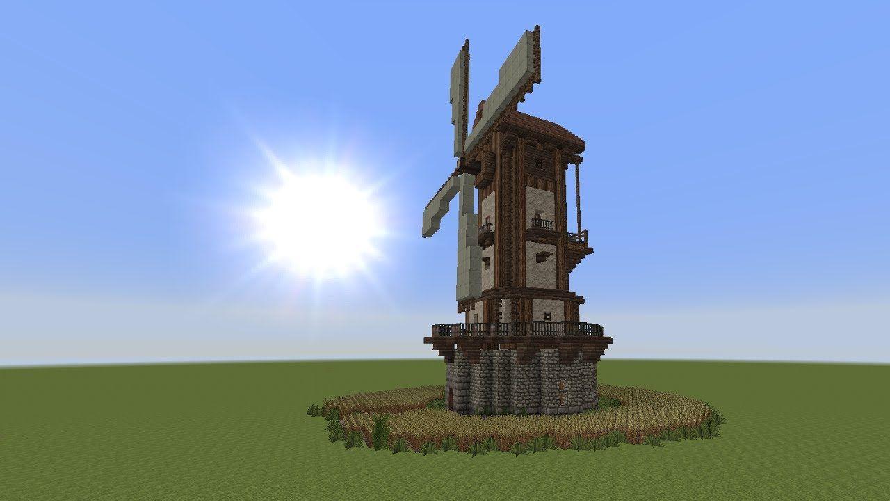 Minecraft tutorial windmühle bauen build a windmill 1