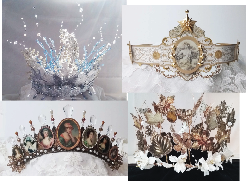 Artfully Musing Wearable Crowns Video Tutorial New Collage Sheets Digital Image Set Crown Decor Metal Crown Goddess Party