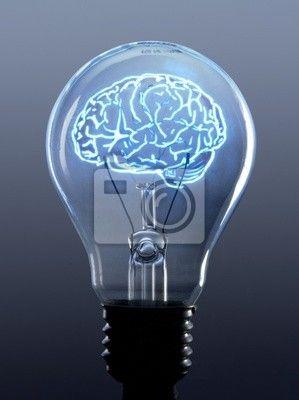 Fototapeta Zarowka I Mozg Pixers Zyjemy By Zmieniac Brain Art Light Bulb Art Light Bulb