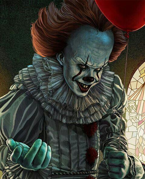 pinshad0wpanda yt on it  horror movie art clown