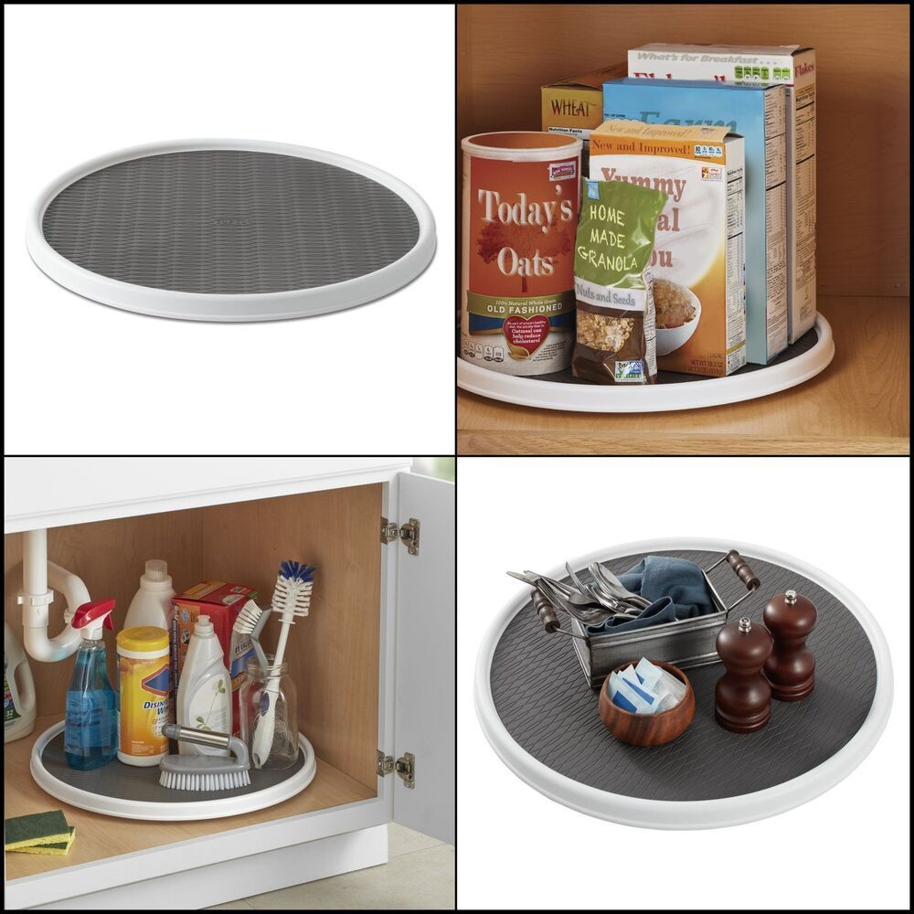 Spice Organization Turntable - Details about Pantry Cabinet Spices Organizer Turntable Non Skid Storage Container for Home... #SpiceOrganization #Turntable
