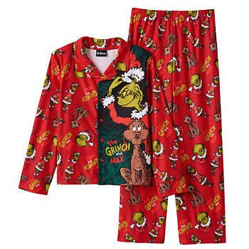 d49bac1ca Dr. Seuss How The Grinch Stole Christmas 2-Piece Pajama Set - Boys 4 ...
