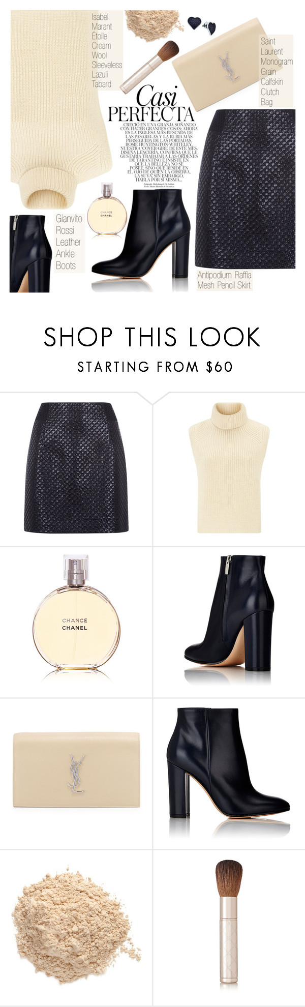 """Girl's Night Out, Beauty Edition"" by pokadoll ❤ liked on Polyvore featuring Antipodium, Étoile Isabel Marant, Chanel, Gianvito Rossi, Whiteley, Yves Saint Laurent, Le Métier de Beauté, By Terry and BillyTheTree"
