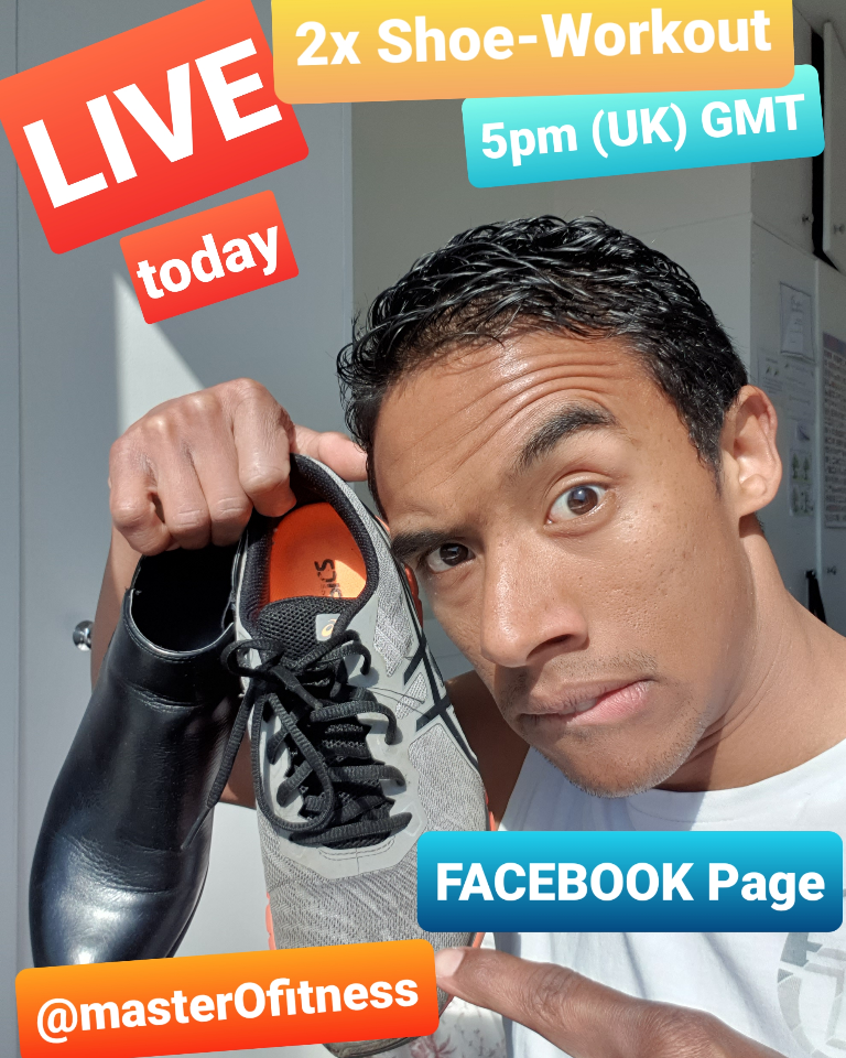 Bring a PAIR or #shoes to this afternoons 20min #fullbody #home #fitness #workout session at 5pm UK...