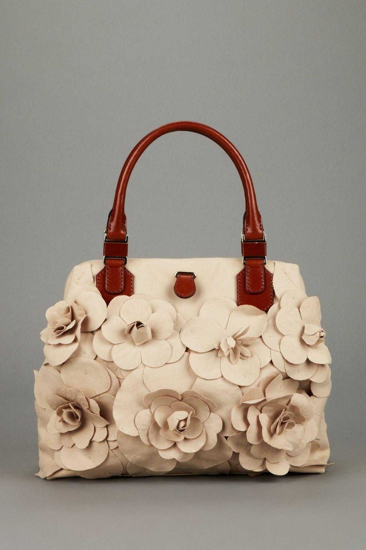 764738a8f0 Valentino Flower Applique Handbag