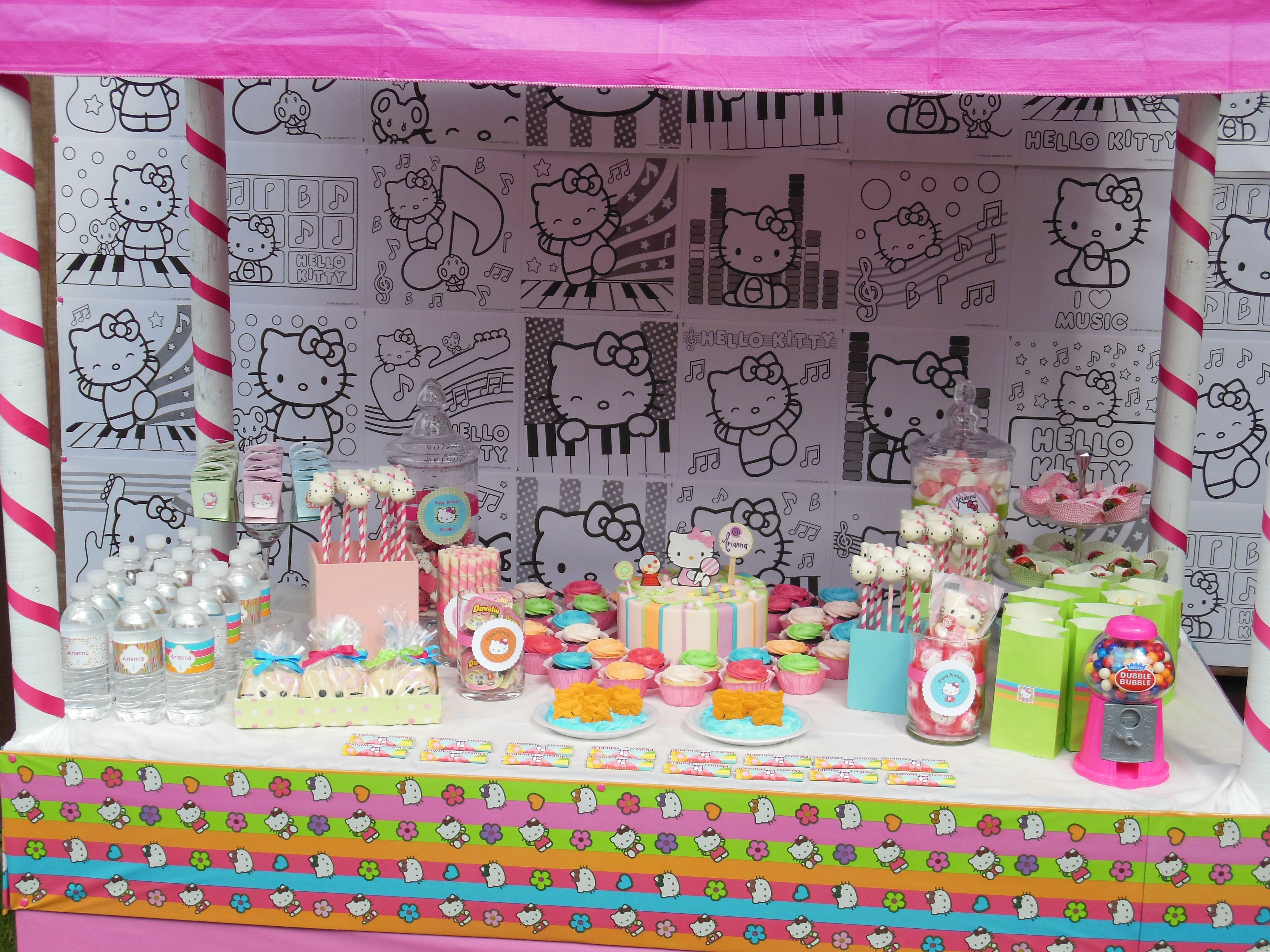 Hello Kitty Party Love The Coloring Sheets Backround