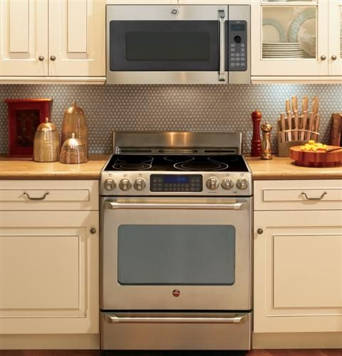 Our Ge Cafe Series Over The Range Oven With Advantium Technology Is Installed With A Custom Rec Double Oven Range Gas Range Double Oven Double Convection Oven