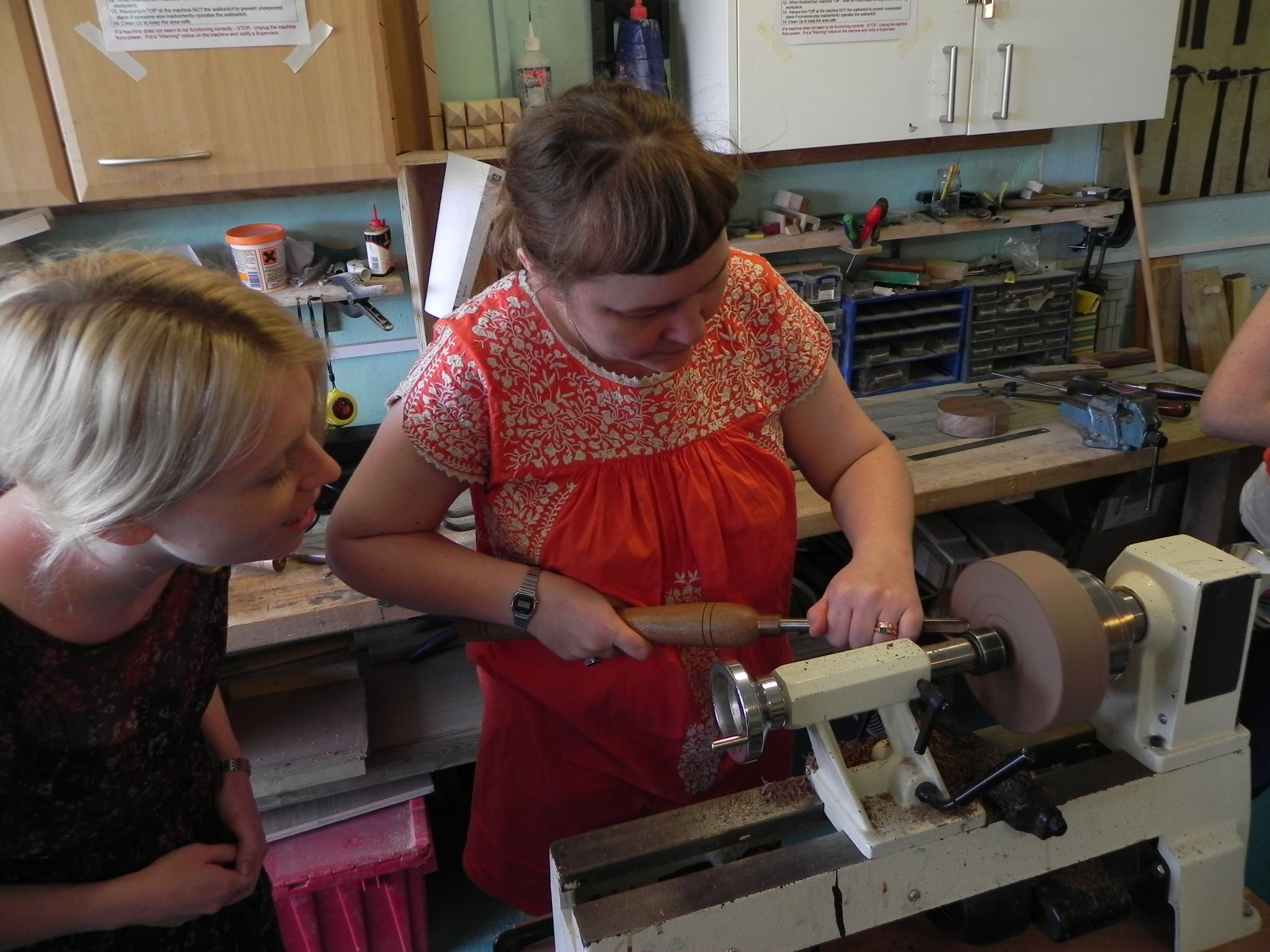 Getting to grips with the lathe!