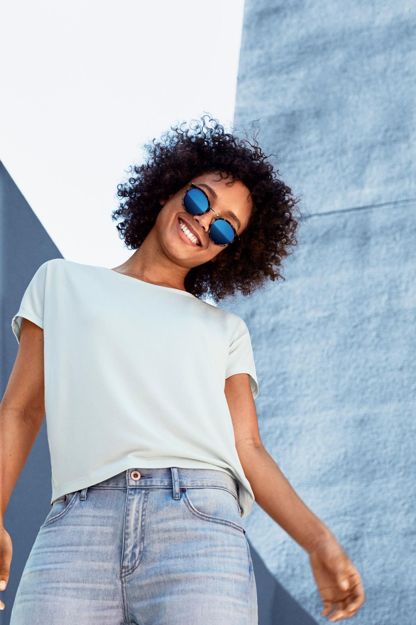 ef5f8580cd0 An elegant take on the classic t-shirt. Our Drape Crewneck Short Sleeve T- Shirt is designed with a glossy sheen making it suitable for the office or  ...