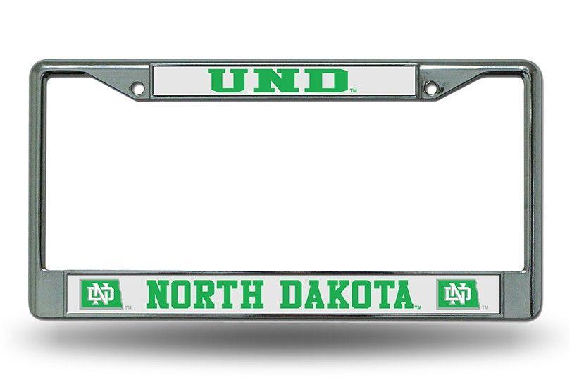 64c9490a North Dakota Fighting Sioux SIOUX Chrome License Plate Frame | NCAA ...