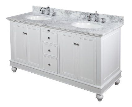 Bella 60 Inch Bathroom Vanity Carrera White Includes An Italian