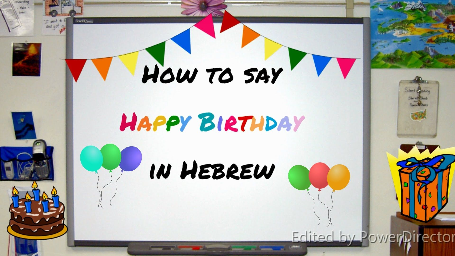 How to say Happy Birthday in Hebrew Language Lesson